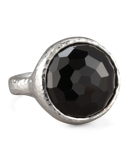 Black Onyx Lollipop Ring