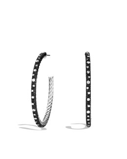 David Yurman Midnight Mélange Large Hoop Earrings with Diamonds