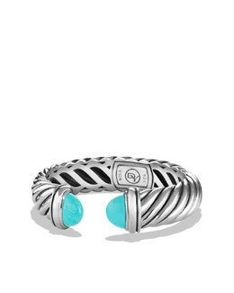 David Yurman 14x7mm Turquoise Waverly Bracelet
