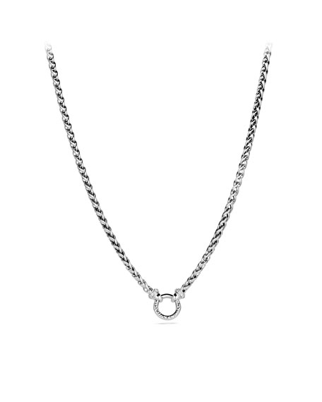 Wheat Chain Necklace with Diamonds