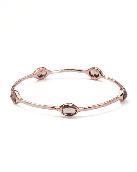 Five-Stone Rose Bangle, Smoky