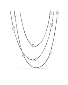 David Yurman DY Logo Six-Station Chain Necklace