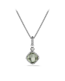 David Yurman Cushion on Point Pendant with Prasiolite