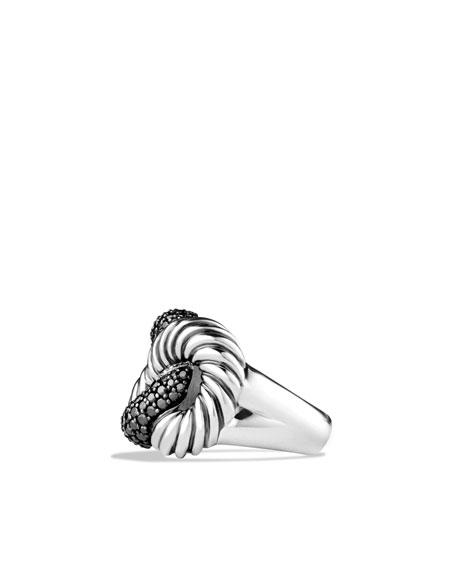 Cordelia Ring with Black Diamonds
