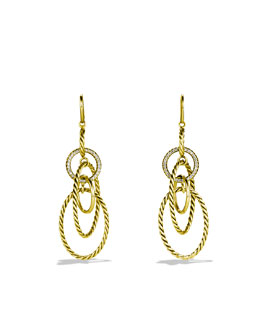 David Yurman Mobile Link Earrings with Diamonds in Gold