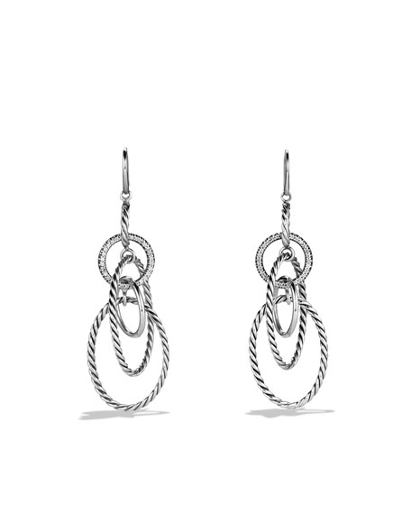 Mobile Link Earrings with Diamonds