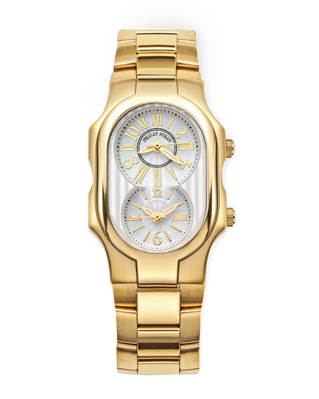 Signature Gold-Plated Watch on Interchangeable Stainless Steel Gold-Plated Bracelet