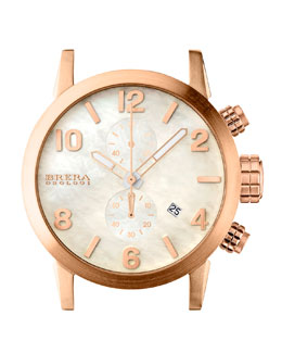 Brera 18k Rose Gold IP Chronograph Head