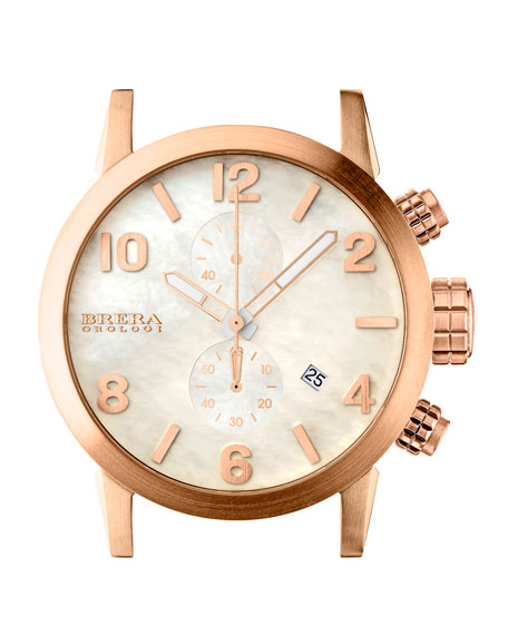 18k Rose Gold IP Chronograph Head