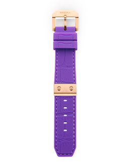 Brera Purple Mist Alligator Strap, 22mm