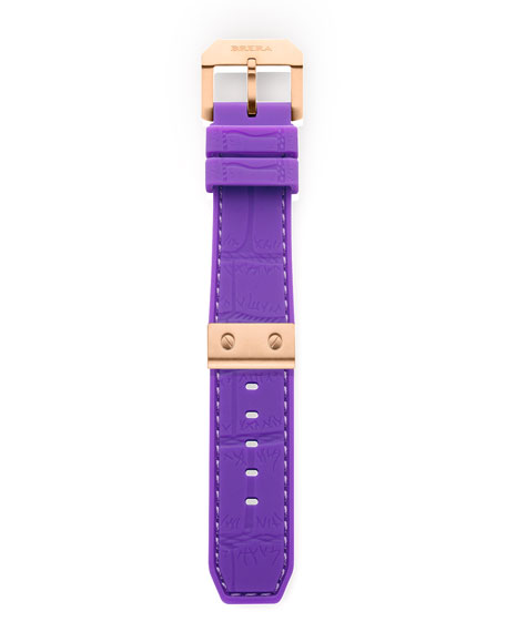 Purple Mist Alligator Strap, 22mm