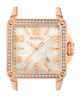 Brera Stella Rose Gold IP Diamond 35mm Head