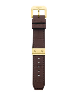 Brera Brown Rubber Strap, 22mm