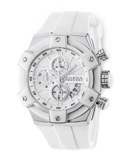 Brera 43mm, Federica Stainless Steel, White