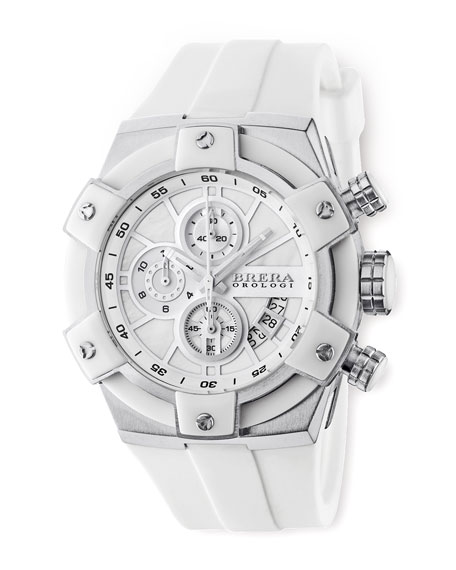43mm, Federica Stainless Steel, White