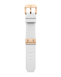 Brera White-Rose Golden Rubber Strap, 22mm