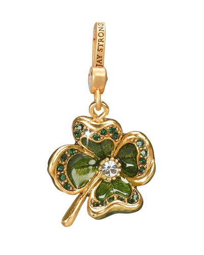"Jay Strongwater ""Dhanya"" Four-Leaf Clover Charm"