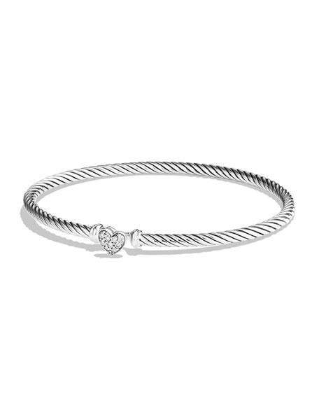 Cable Collectibles Fleur-De-Lis Bracelet With Diamonds, Silver