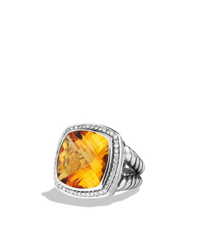 David Yurman Albion Ring, Citrine, 17mm