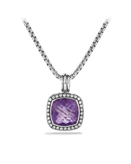 David Yurman Albion Pendant with Amethyst and Diamonds