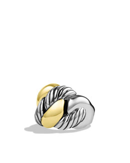 David Yurman Cordelia Wide Ring with Gold