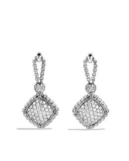 David Yurman Cushion-on-Point Earrings with Diamonds