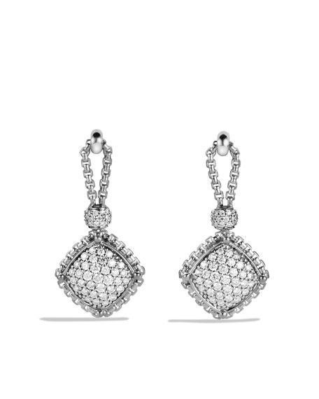 Cushion on Point Earrings with Diamonds