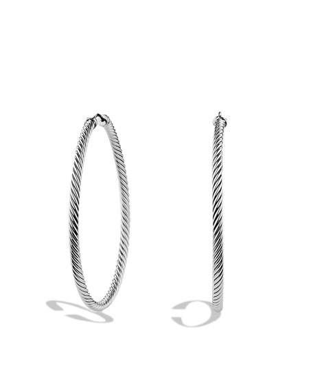 Cable Classics Extra-Large Hoop Earrings