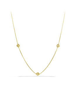 David Yurman Infinity Necklace, Diamond, 18""
