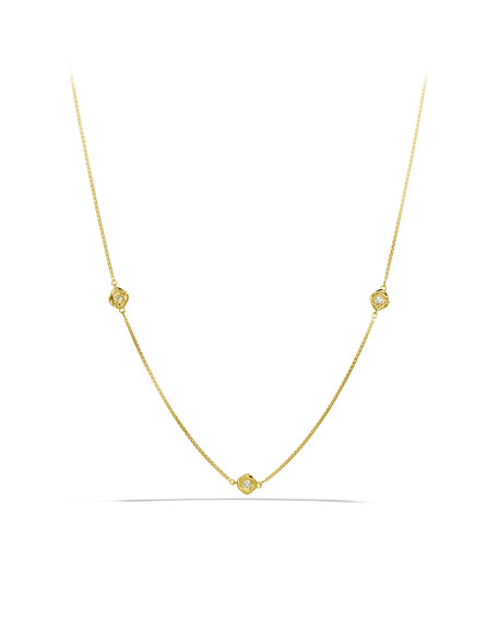 "Infinity Necklace, Diamond, 18"""