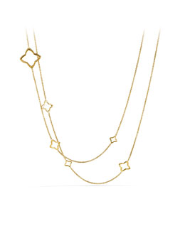 David Yurman Quatrefoil Chain Necklace in Gold