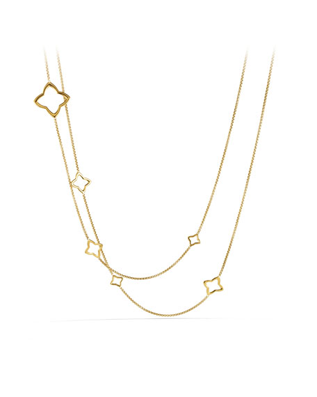 Quatrefoil Chain Necklace in Gold