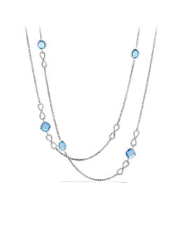 David Yurman Confetti Figure-Eight Necklace with Blue Topaz