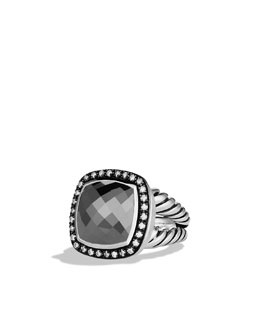 David Yurman Albion Ring with Hematine and Diamonds
