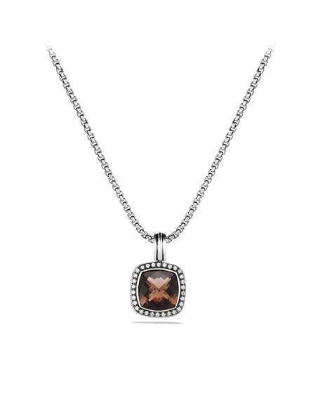 Albion Pendant with Smoky Quartz and Diamonds