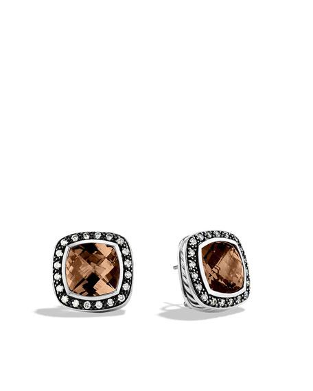 11mm Smoky Quartz Moonlight Ice Earrings