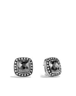 David Yurman Albion Earrings with Hematine and Diamonds