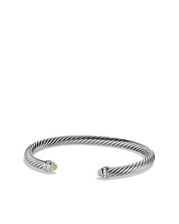 David Yurman Cable Classics Bracelet with Prasiolite and Diamonds