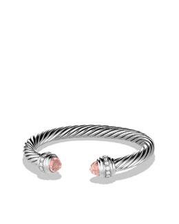 David Yurman Cable Classics Bracelet with Morganite and Diamonds