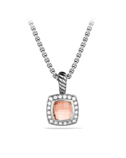David Yurman Petite Albion Pendant with Morganite on Chain