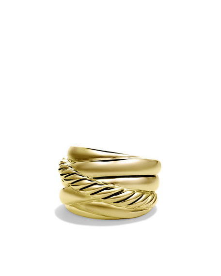 Crossover Wide Ring in Gold