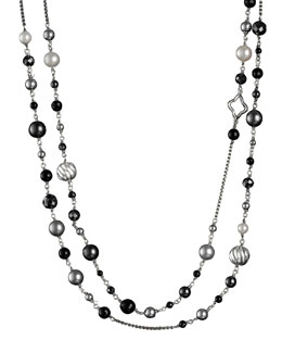 David Yurman DY Elements Necklace, Black Onyx, 48""