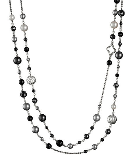 DY Elements Necklace, Black Onyx, 48""