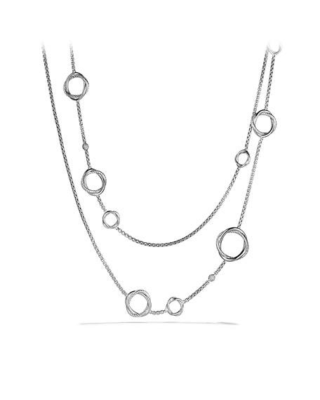 "Bijoux Quad Necklace, Pearl, 48"""