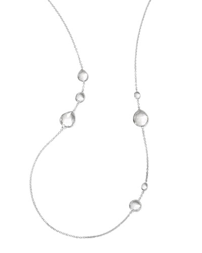 "Wonderland Quartz Necklace, 33""L"