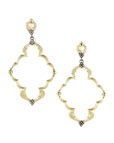 Armenta Open-Frame Earrings