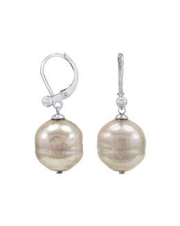 Majorica Baroque Pearl Earrings, White