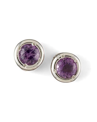 Roberto Coin Amethyst Stud Earrings