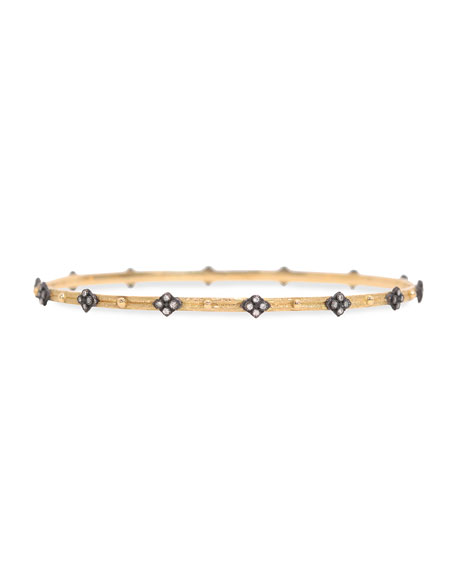 Armenta Diamond-Quatrefoil Bangle, Golden