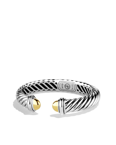 David Yurman Waverly Bracelet with Gold Domes